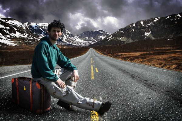 男のひとり旅イメージ